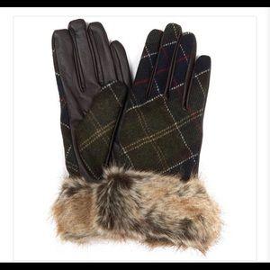 Barbour Brown Linton Womens Glove - Size L